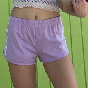 Light purple/pink adidas shorts from urban